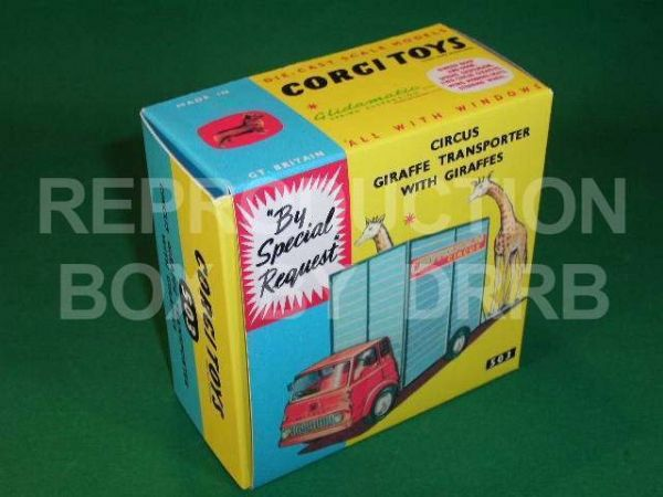 Corgi #503 Chipperfield's Circus Giraffe Transporter - Reproduction Box